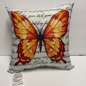 Butterfly Pillow with Script
